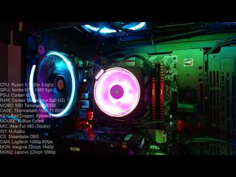 Pc Build Showcase Ryzen 7 2700x Wraith Prism Rgb Led Show Youtube