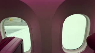 Смотреть видео Вау! Qatar Airways в Питере!!! Обзор бизнес-класса и эконом-класса Boeing 787-8 Dreamliner. онлайн