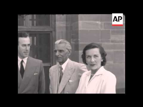 JINNAH WITH LORD MOUNTBATTEN - NO SOUND