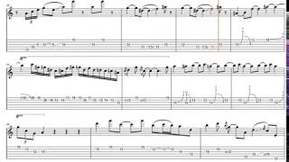 Guthrie Govan -  Fives (Special Package jamtrackcentral) - Animated Tab - Full-speed