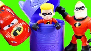 Disney Cars 3 Lightning McQueen & Mr. Increbile Rescue Incredibles 2 Family And Red Power Ranger