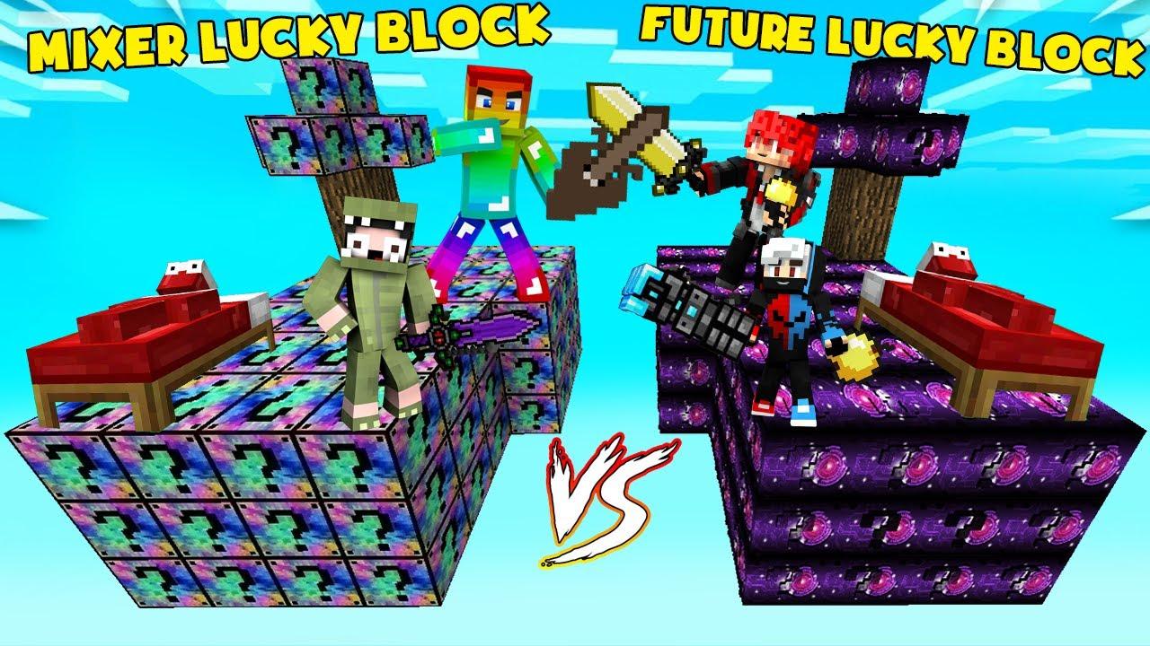 MINI GAME : MIXED VS FUTURE LUCKY BLOCK BEDWARS ** GIÁP AI VIP HƠN NGƯỜI ĐÓ CHIẾN THẮNG ??