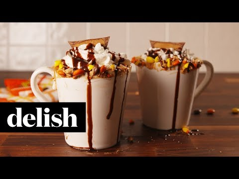 How to Make Reeses Hot Chocolate  Recipe  Delish