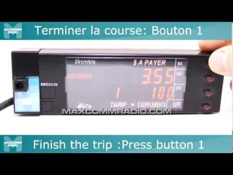 Taximètre ATA Primus Power Mode d'Emploi - ATA Primus Power Taxi meter  Instructions