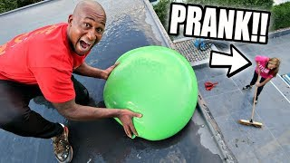 ICE WATER BALLOON PRANK ON MY MOM