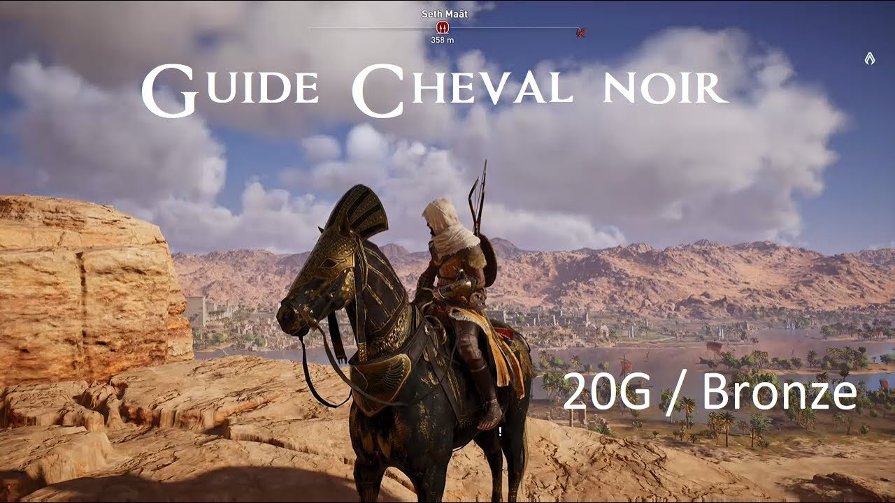 Assassin S Creed Origins Cheval Noir 20g Bronze Youtube