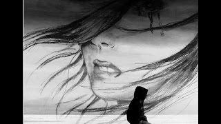 Грустная девушка рисунок карандашом