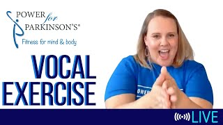 Power for Parkinson's Wednesday Vocal Exercise - Live Streaming Day 172