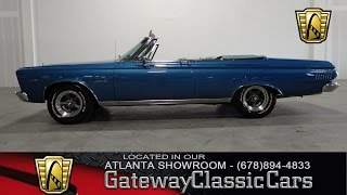 1965 Plymouth Satellite Convertible - Gateway Classic Cars of Atlanta #223