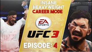Straight Punch Combo Knockout!  EA Sports UFC 3 Heavyweight Career Mode Gameplay