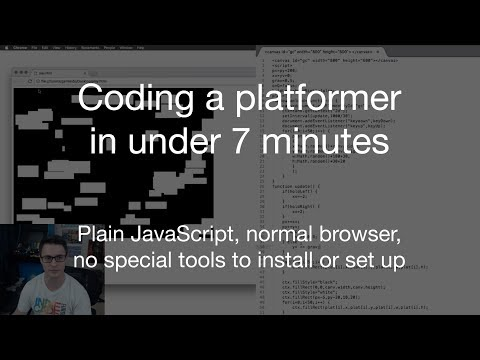 Coding a Platformer in Under 7 Minutes