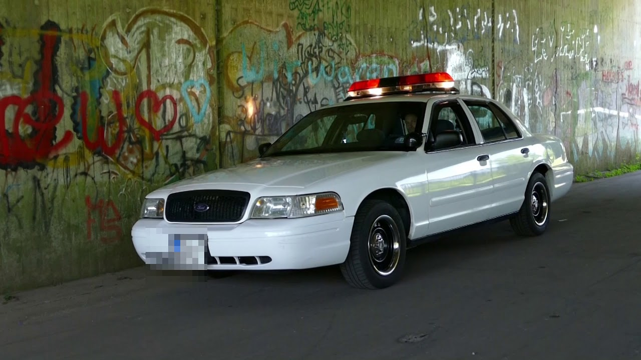 us cars mieten hamburg | ford crown police interceptor 2001 v8 sound