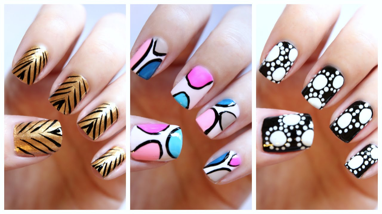 Easy nail art for beginners 19 jennyclairefox youtube prinsesfo Gallery