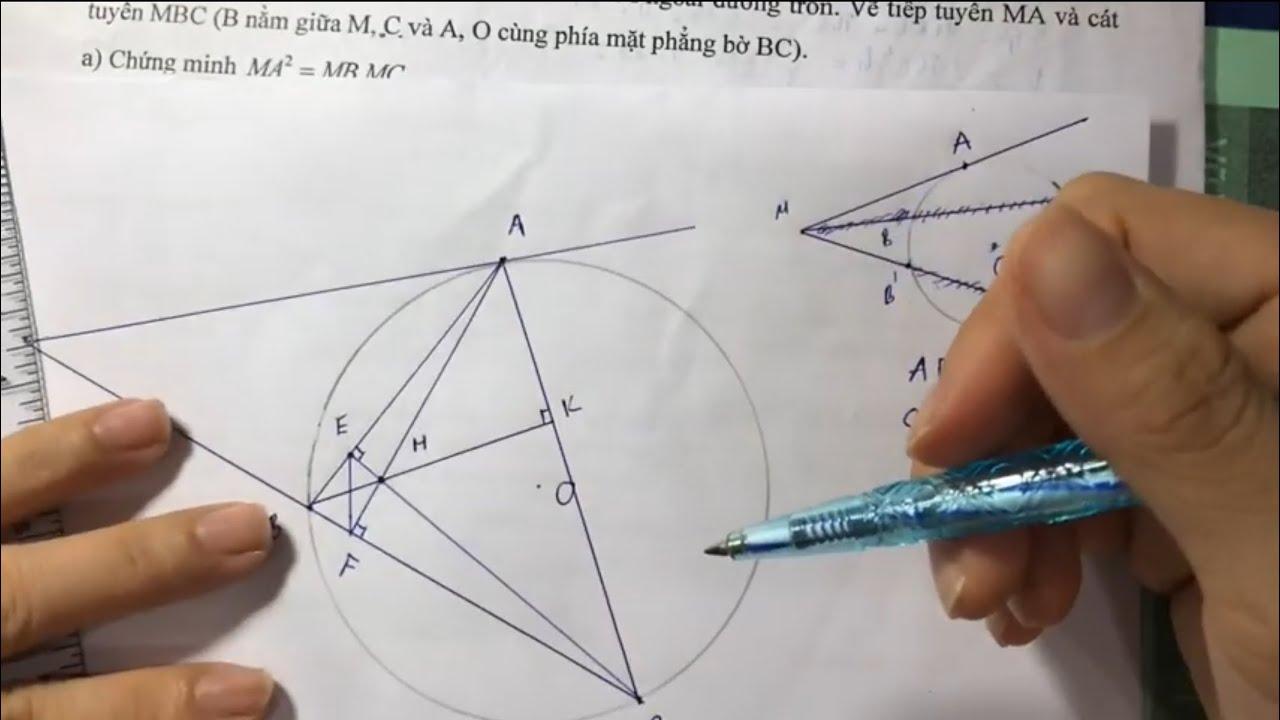 Toán Hình 9 – Hướng dẫn cách vẽ hình lớp 9