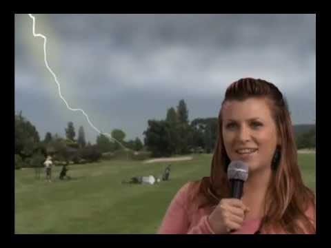 Lightning Strikes Golfer 8 Sec Youtube