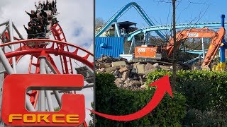 G-Force Has GONE! Drayton Manor Roller Coaster REMOVED