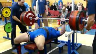 Bench press 227,5kg mistrovstvi moravy