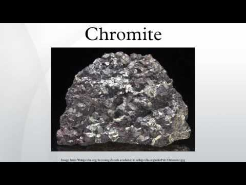 Chromite: The mineral Chromite information and pictures  |Chromate Mineral