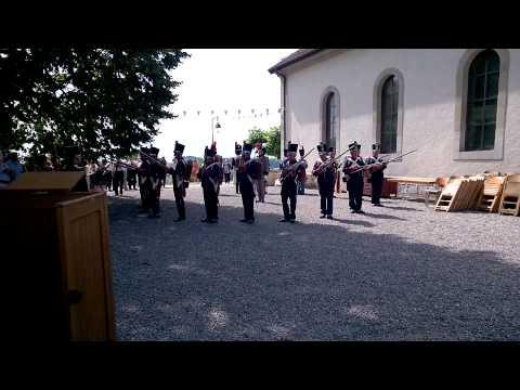 Représentation des milices vaudoises à la fête de l'Abbaye Les Laboureurs de Bussigny, 22 juin 2014 par Y. P.