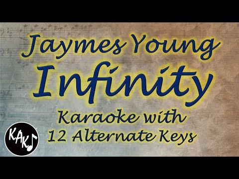 Jaymes Young - Infinity Karaoke Instrumental Original Lower Higher Female Key
