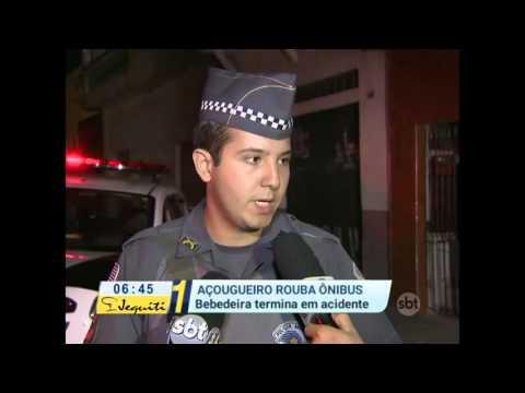 Primeiro Impacto (05/05/16) Criminoso embriagado rouba ônibus e provoca acidentes em São Paulo