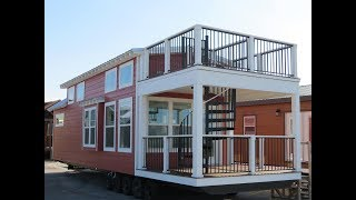 Tiny Home Tuesday Episode #1 - Elite Cottages Rooftop Terrace