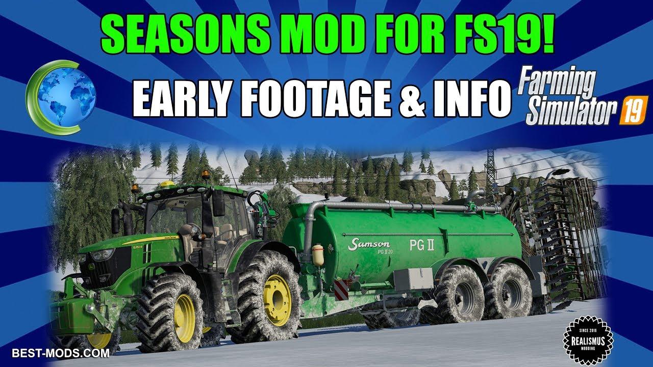 FS19 🌳Seasons Mod Info, News and EARLY FOOTAGE! 🚜