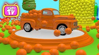 Learn colors with cars and balls. Painting cars for baby