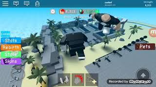 Роблокс симулятор качка 6часть сделали ребитх и отправились в рай!!!