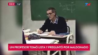 Un profesor tomo lista y pregunto por Santiago Maldonado