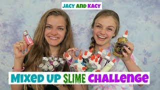 Mixed Up Slime Challenge ~ Jacy and Kacy