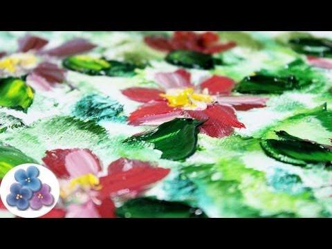 Pintura al oleo flores modernas oil painting how to oil - Cuadros flores modernas ...