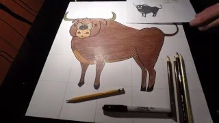 Bull Drawing Time Lapse