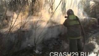 Пожар на складе пластиковых окон в Архангельске