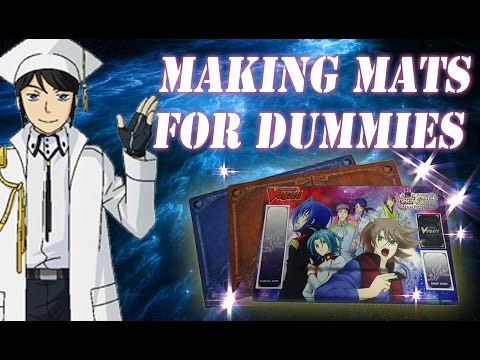 How To Make A Cardfight Vanguard Playmat Youtube