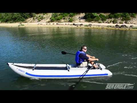 Sea Eagle PaddleSki Inflatable Kayak with Rowing Frame
