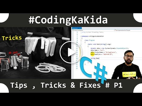 C# Tips,Tricks & Fixes Part 1 | String Class I C# tutotials | codingkakida thumbnail