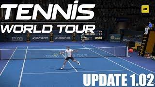 Tennis World Tour - UPDATE 1.02 - Richard Gasquet vs Roger Federer - PS4 Gameplay