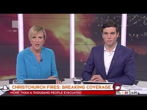 1 News: Breaking - Christchurch Fires (16th February 2017, 6am)