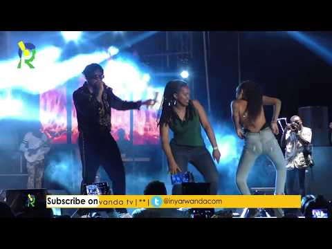Rwandan ladies dancing with Runtown