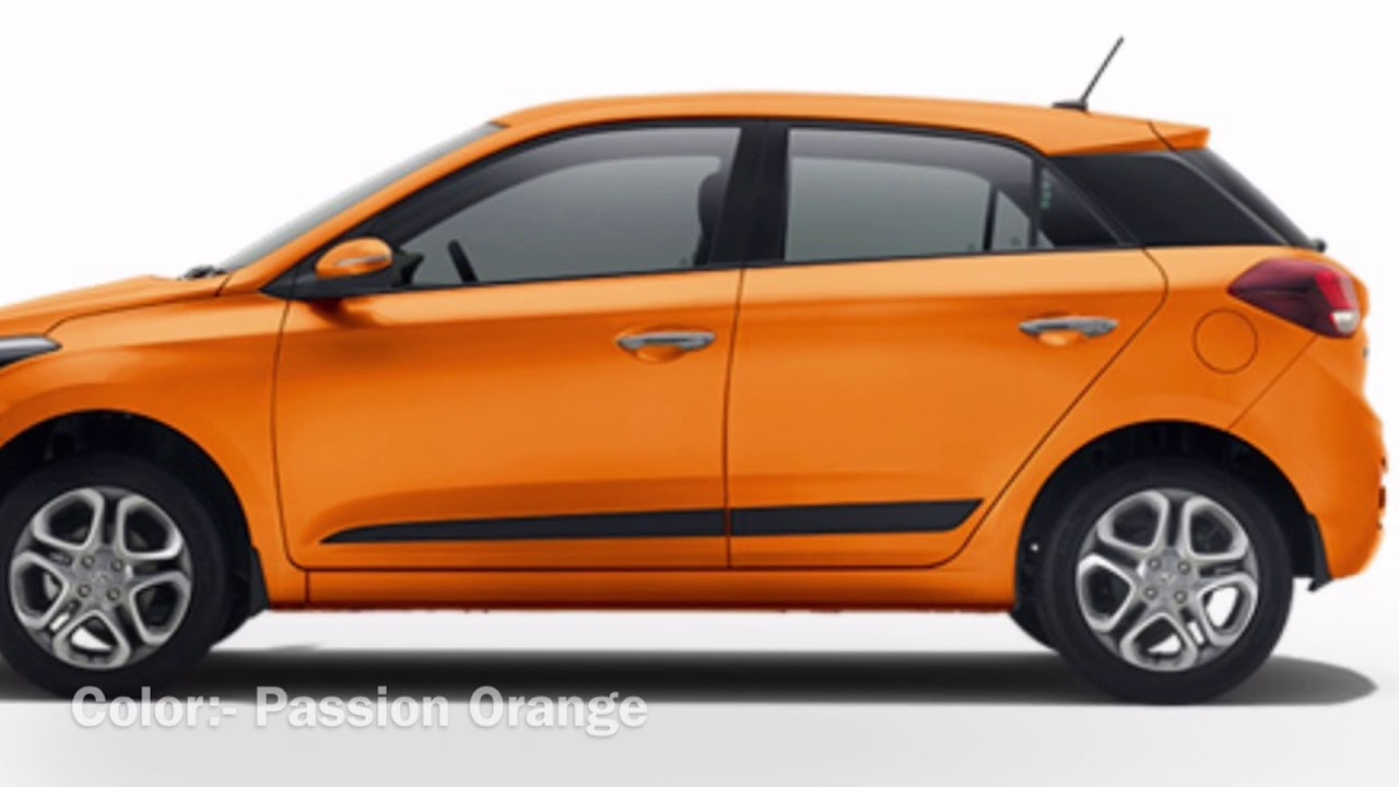 Hyundai Elite I20 2018 Colors Youtube