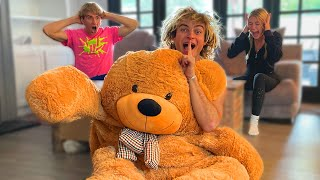 GIANT TEDDY BEAR PRANK ON STEPHEN SHARER AND MY GIRLFRIEND
