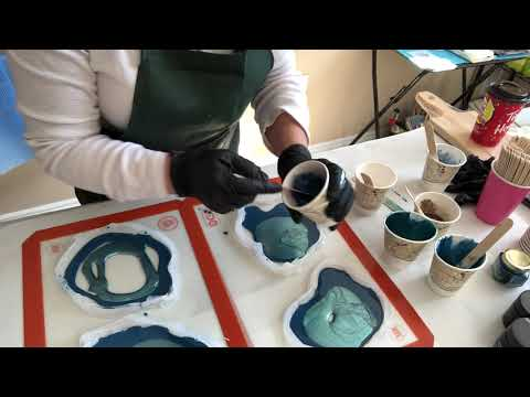 Resin Pigment Canada Tutorial #3 free form Geodes