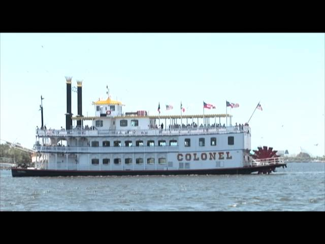 Attractions: Colonel Paddlewheel Boat at Moody Gardens on Galveston Island, Texas