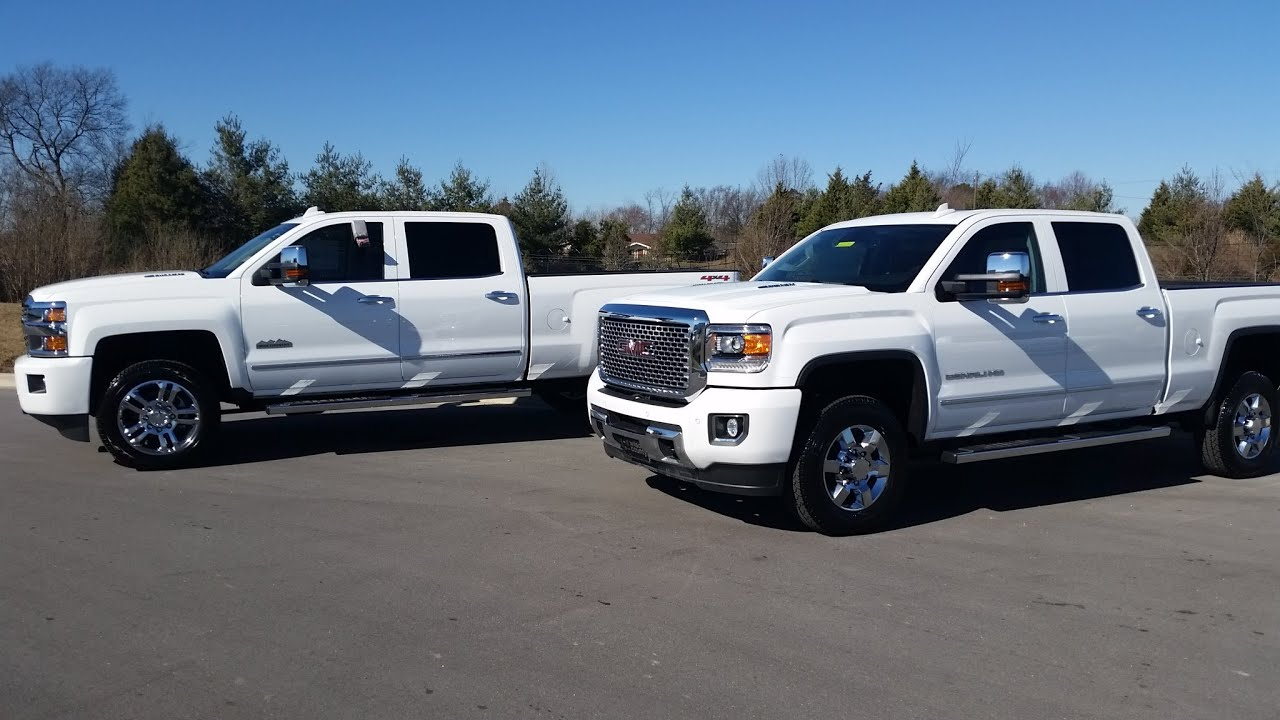 2015 gmc sierra 3500 hd denali vs chevrolet silverado 2500. Black Bedroom Furniture Sets. Home Design Ideas