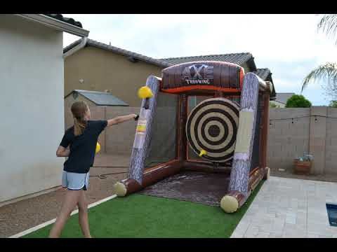 New for 2019! Inflatable Axe Throwing