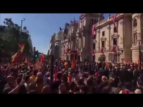 Hoy en València manifestantes gritando consignas nazis y terroristas con total impunidad