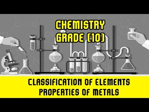 19. Classification Of Elements | Properties Of Metals | Melting & Boiling Point | Metalic Lattice