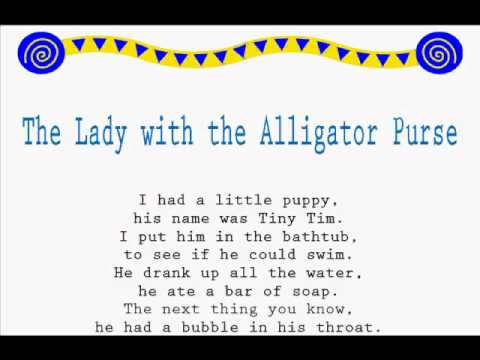 The Lady with the Alligator Purse /Read Along Jump Rope Songs/Kids Songs