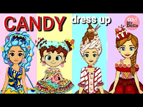 🍭🍨🍬DIY paper dolls and dollhouse paper quiet book paper craft paper dolls drawing and playing